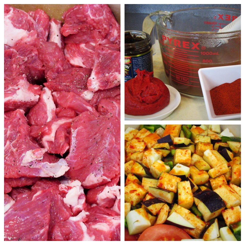 Turkish beef stew guvec ingredients