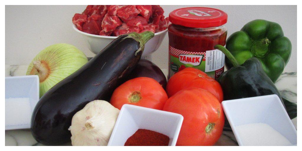 Turkish beef stew guvec ingredients