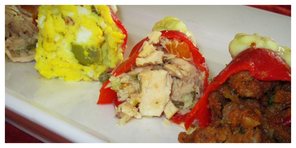 Stuffed pepper tapas three ways