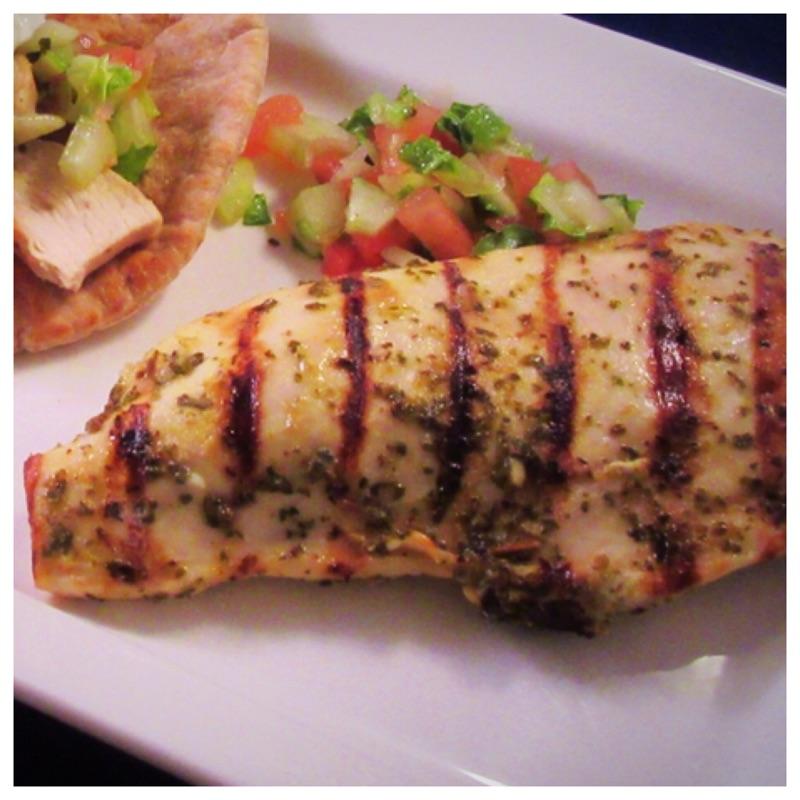 Greek chicken with tzatziki