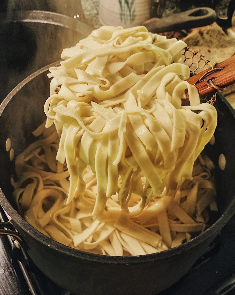 Cooked Homemade Pasta