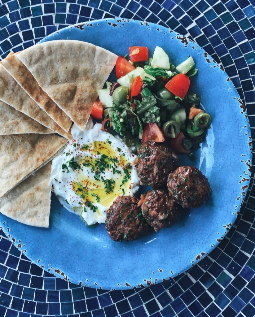 Pomegranate Glazed Koftas Plate