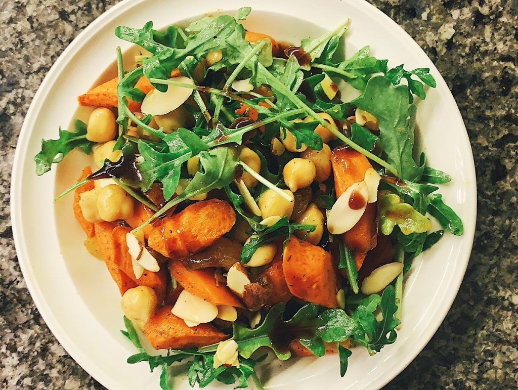 pantry essentials Roasted Carrot and Chickpea Salad