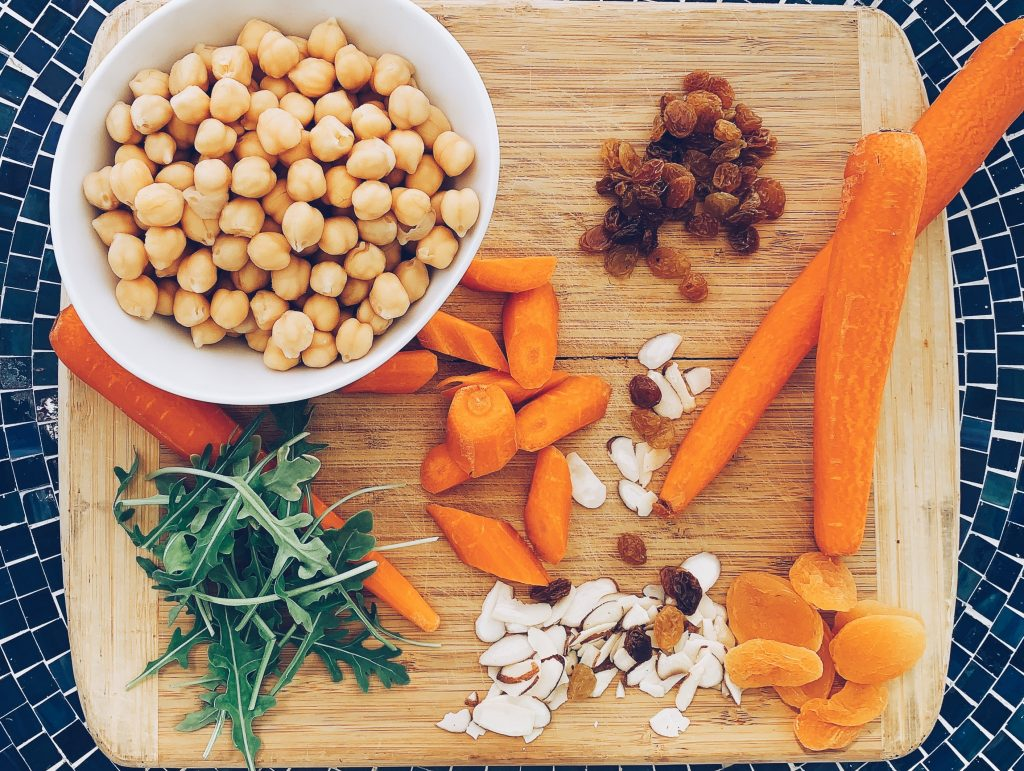Roasted Carrot and Chickpea Salad Ingredients