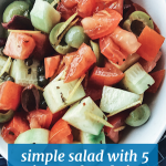 Simple Mediterranean Salad Mediterranean Food