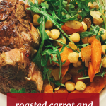 Roasted Carrot and Chickpea Salad Mediterranean Food