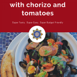 Steamed Mussels with Chorizo & Tomato Broth