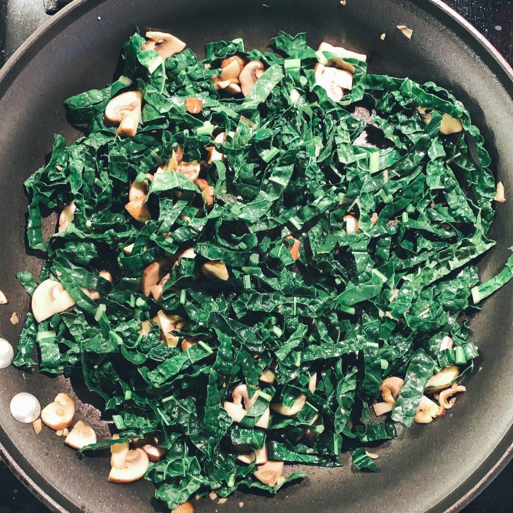Tuscan Kale Cooking