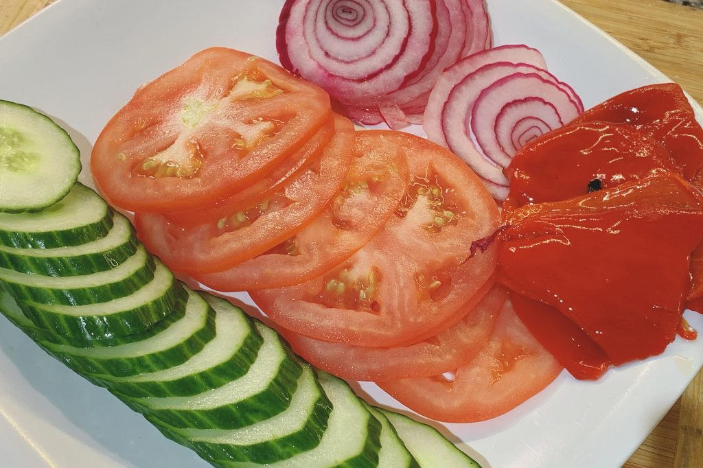 Sliced Vegetables for Pan Bagnat