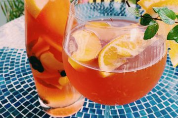 Peach Rosé Sangria Featured