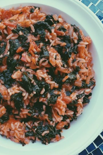 Turkish Rice and Spinach Featured