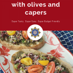 Bruschetta with Olives and Capers