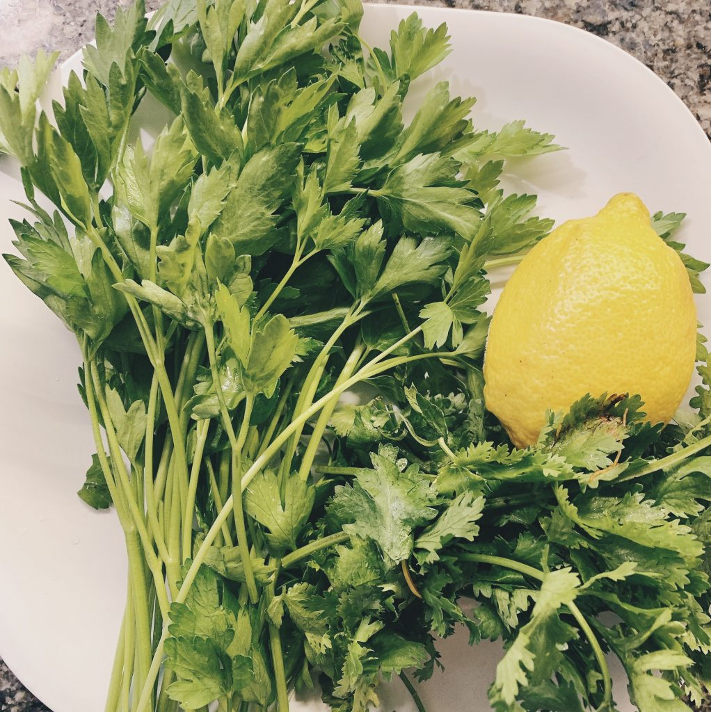 Parsley Cilantro and Lemon