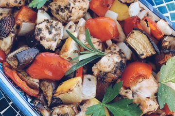 slow roasted vegetables and Chicken