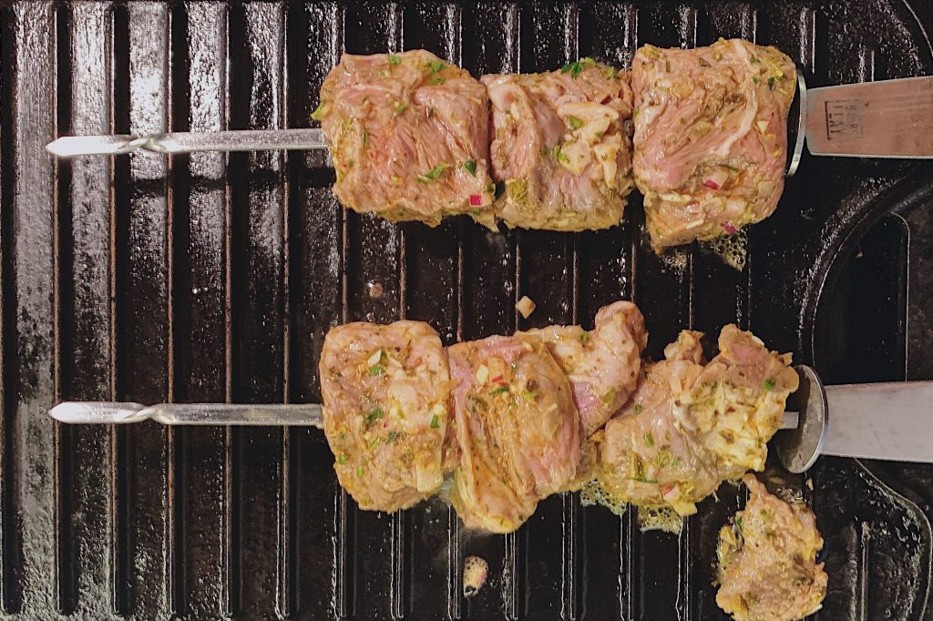 Lamb Souvlaki Grilled