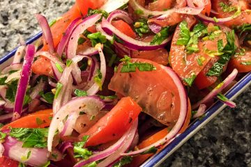 Turkish Style Tomato and Onion Salad.