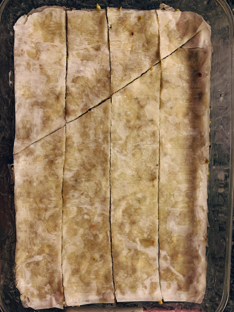 Baklava Diagonal Cut