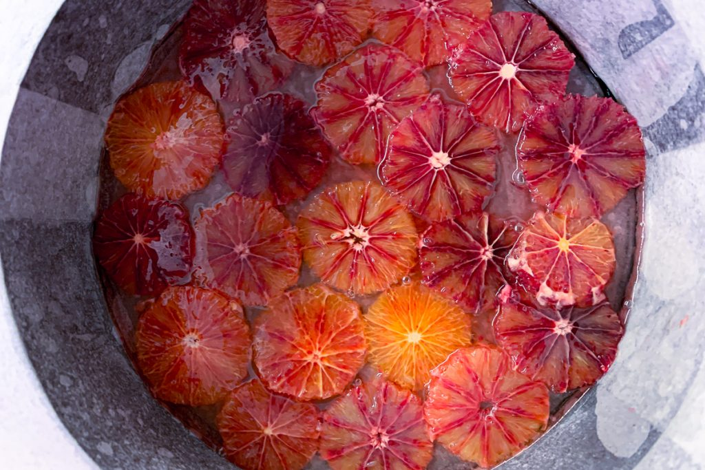 Blood Orange Prepped in Pan