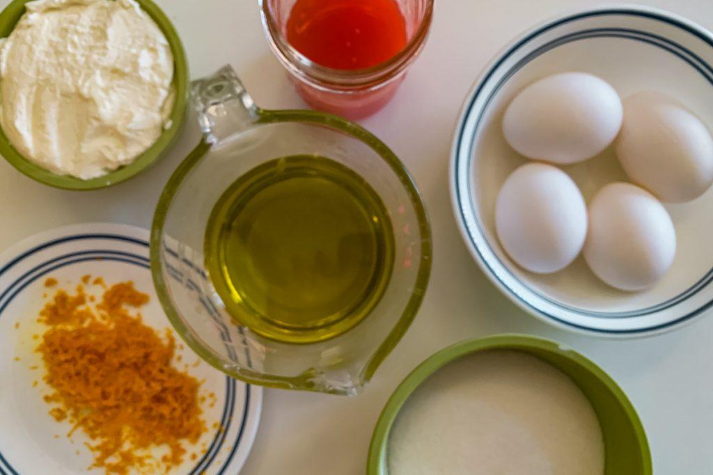 Blood Orange Polenta Wet Ingredients