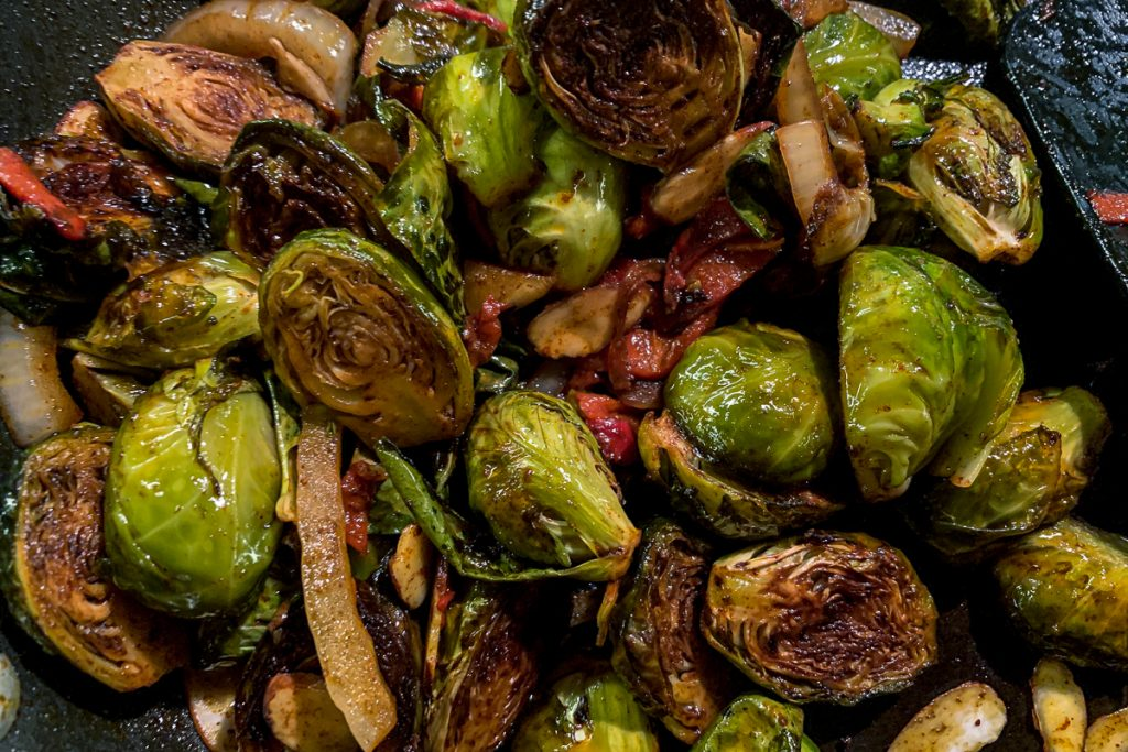 Sweet and Smoky Brussels Sprouts Finished