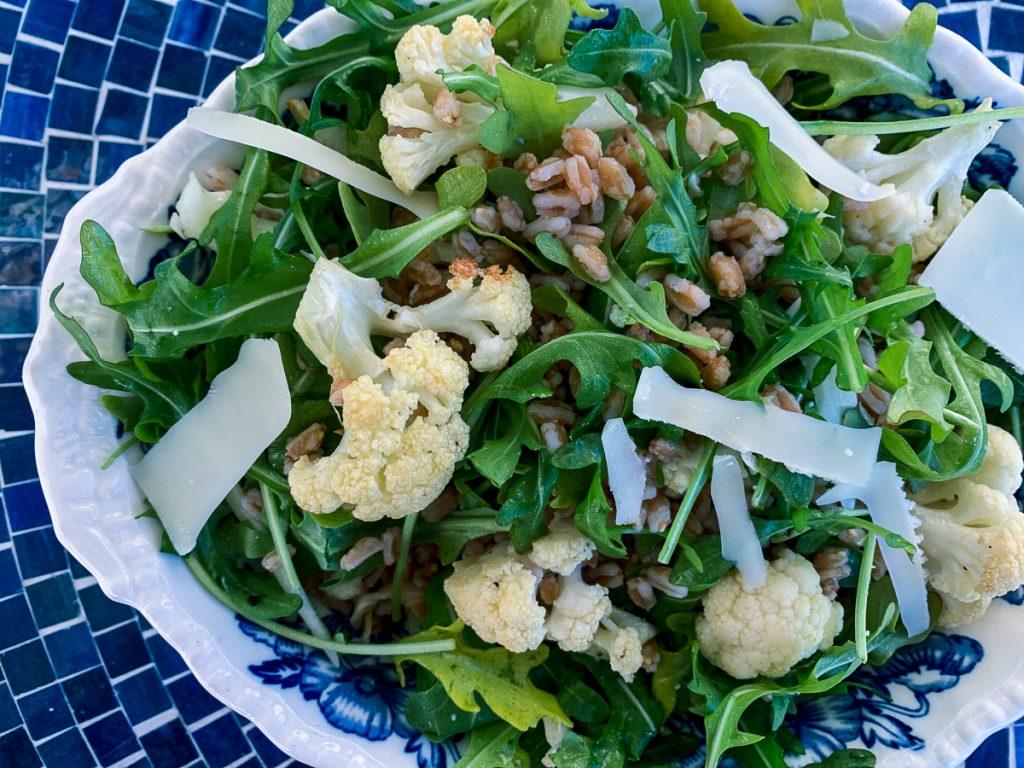 Roast Cauliflower and Farro salad IG