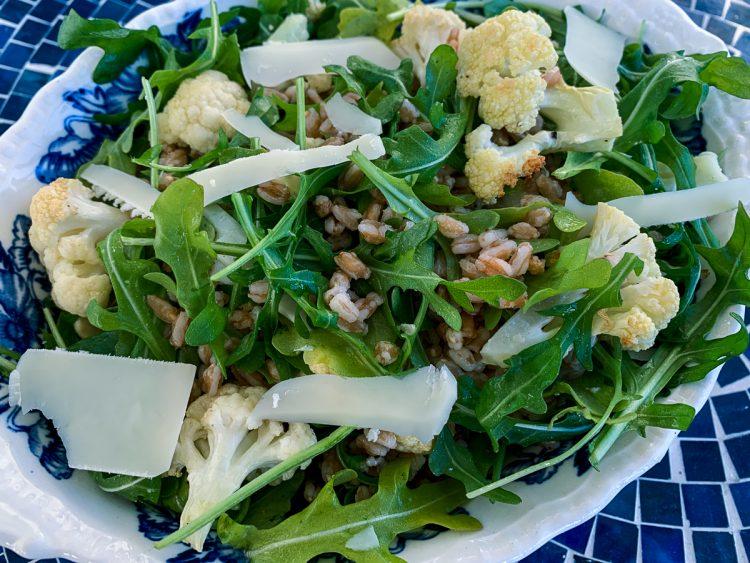Roast Cauliflower and Farro salad Featured