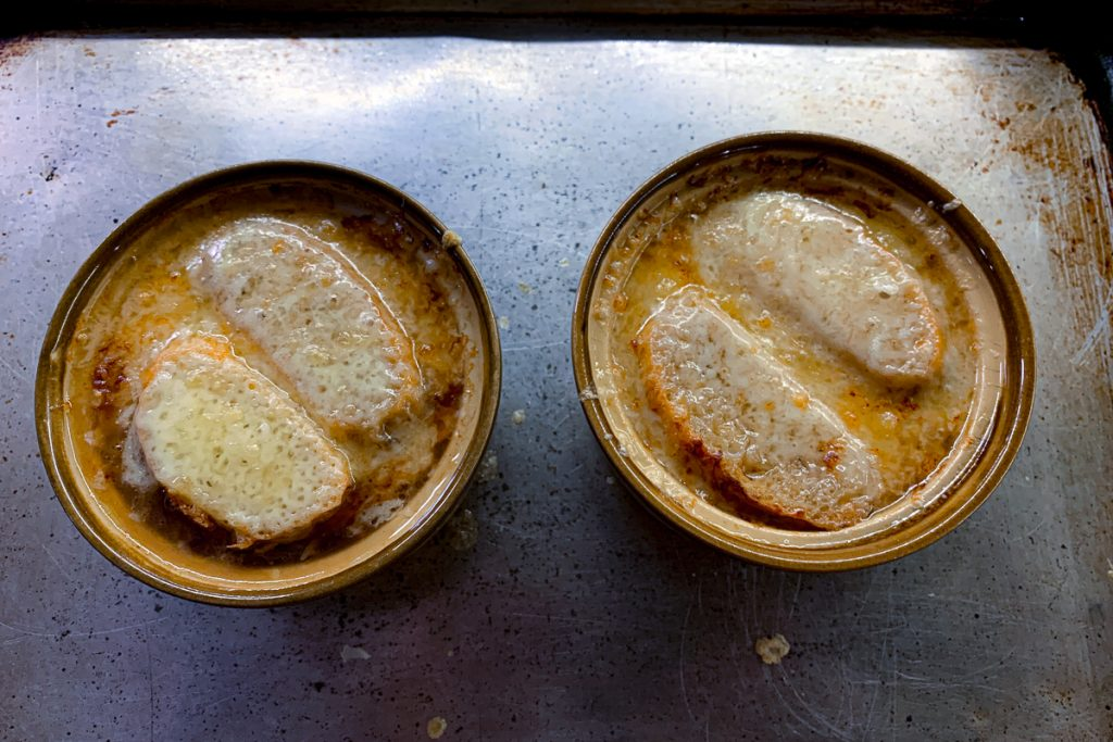 French Onion Soup Out of Broiler