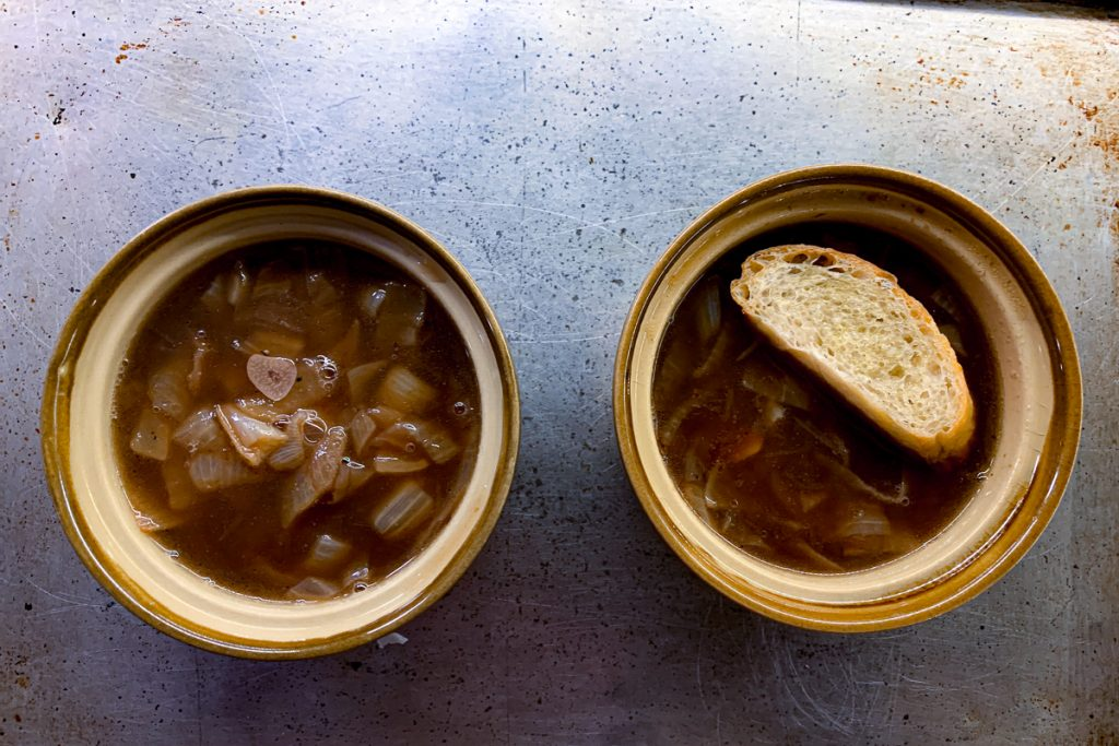 French Onion Soup in Crocks