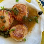 Scallops with Lemon Caper Sauce Featured
