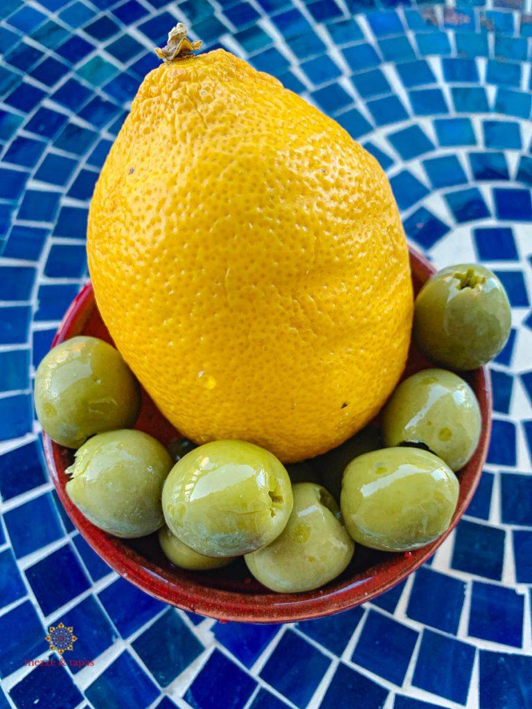 Lemon and Green Olives