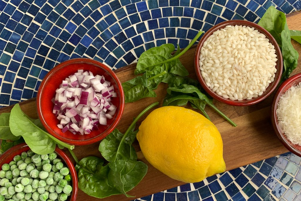 Lemony Pea Risotto Ingredients