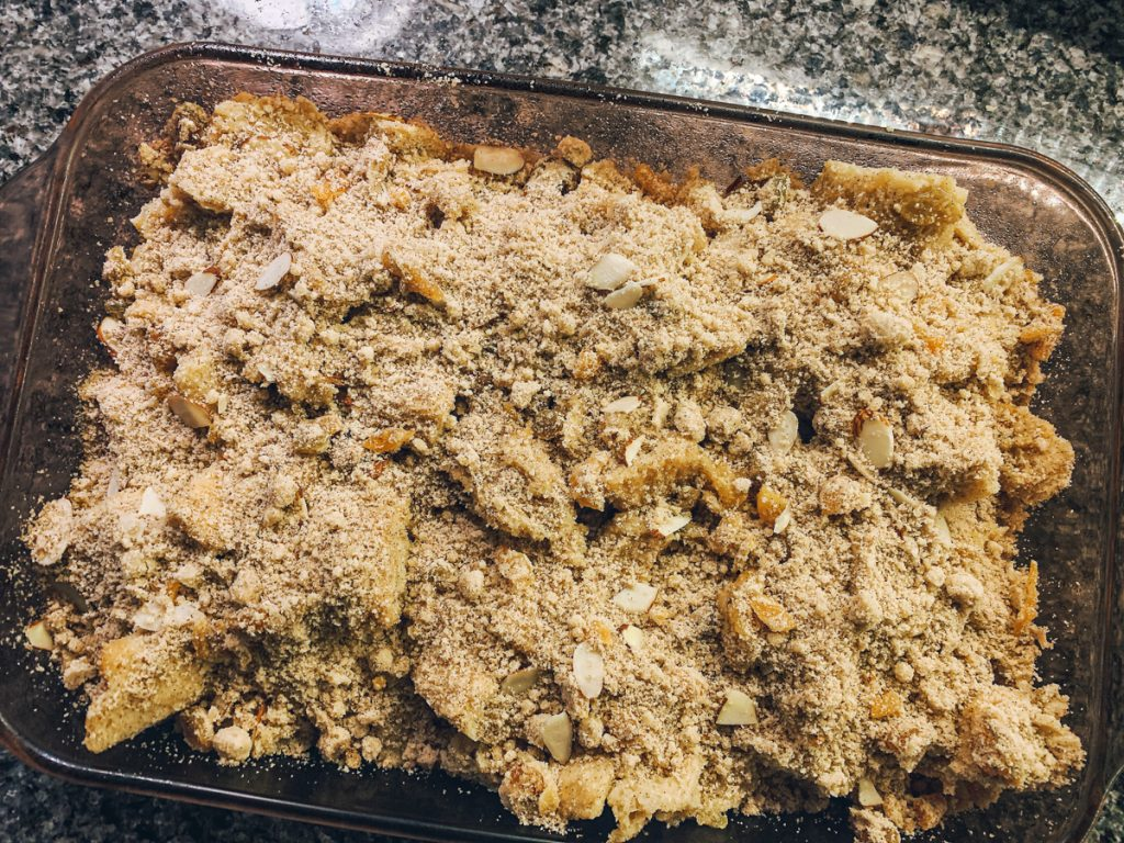 Overnight French Toast In Pan With Streusel