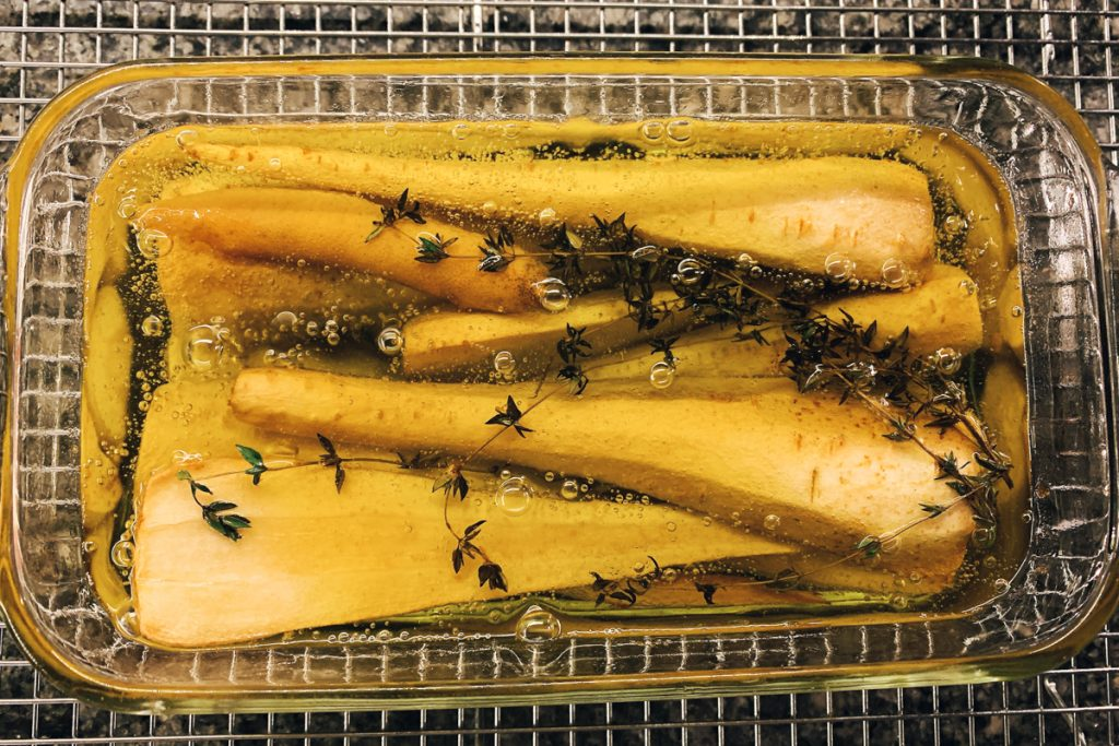 Parsnips In Oil After