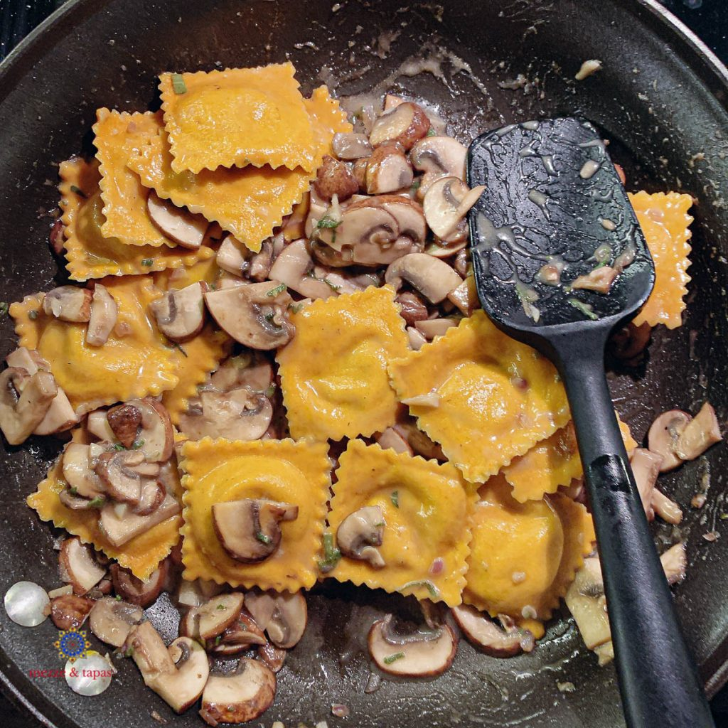 Pumpkin Ravioli In Pan
