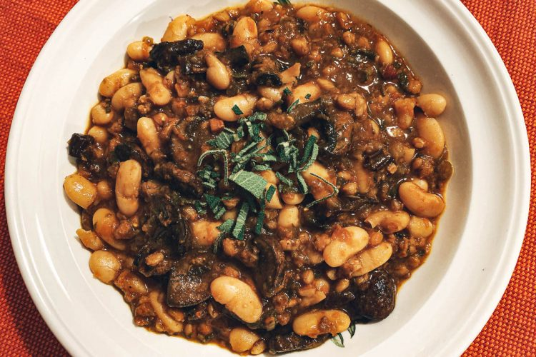 White Bean Farro Mushroom Featured