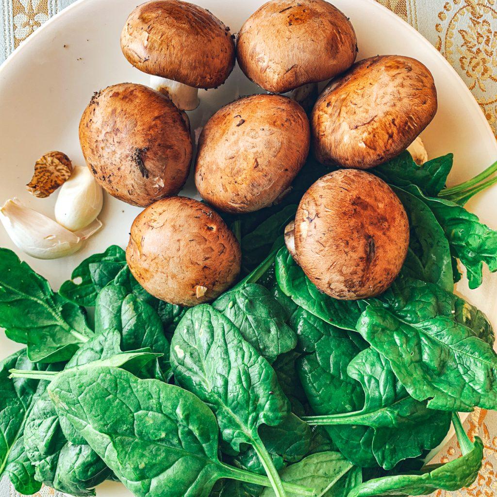 Spinach Mushroom Filling Ingredients
