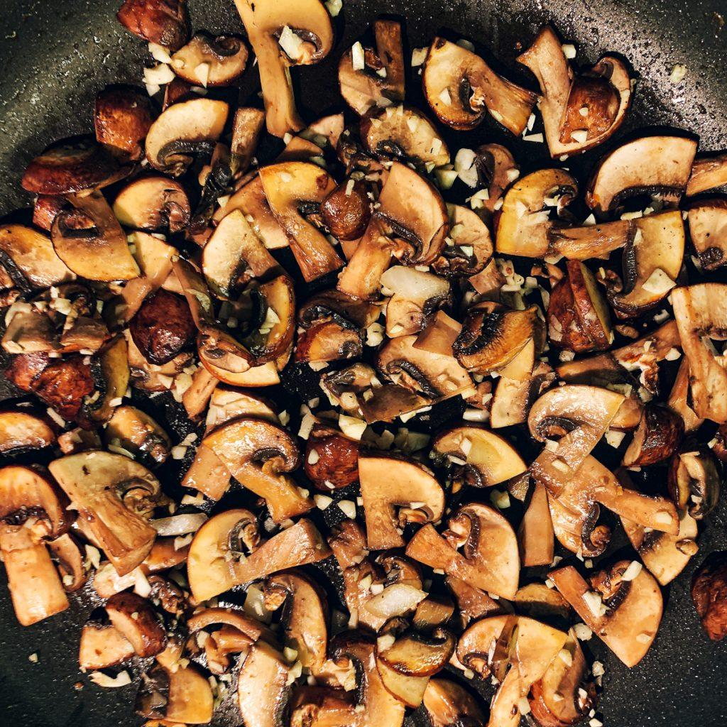 empanada sautéed mushrooms
