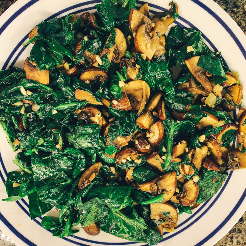 Spinach Mushroom Filling