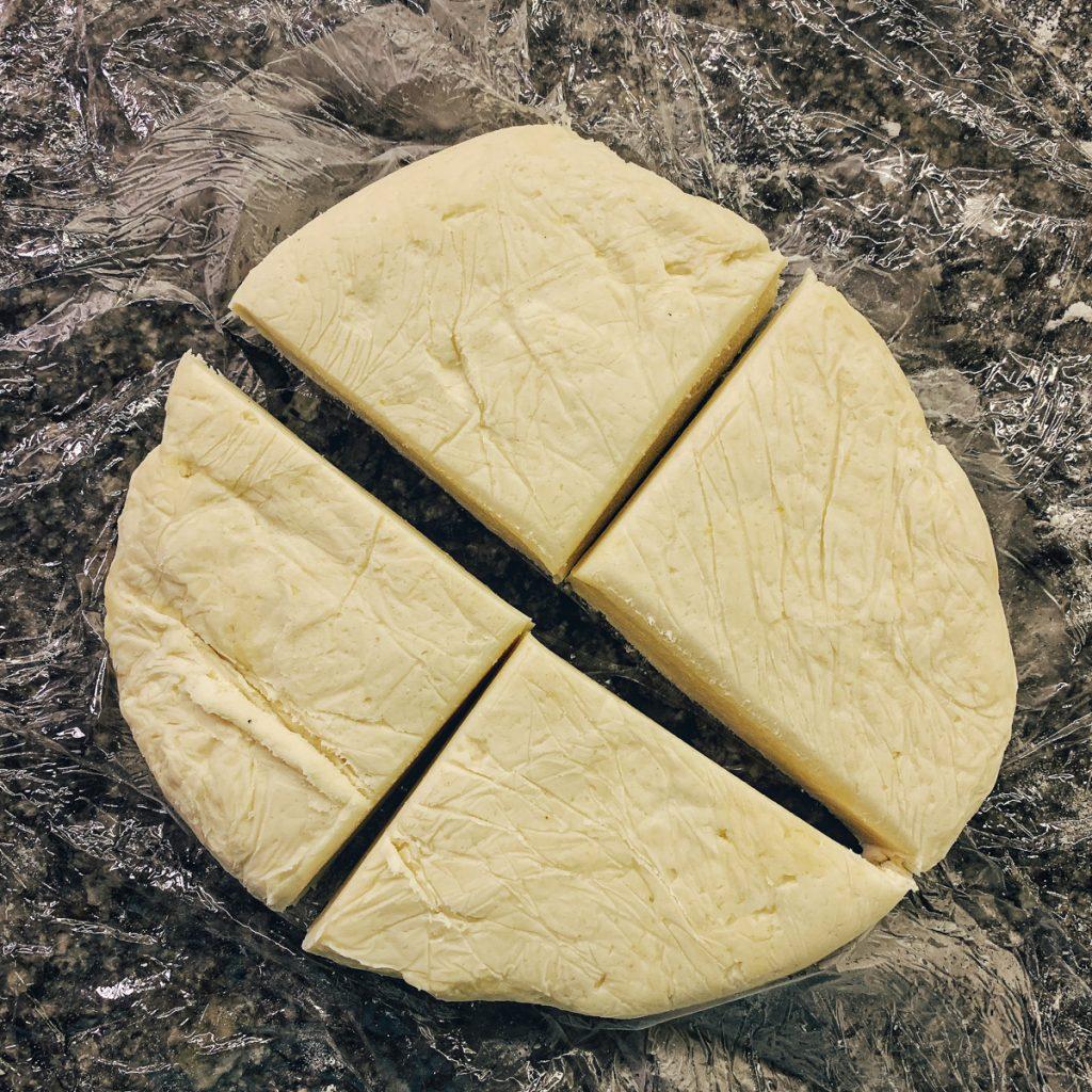 empanada dough quartered